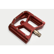 Burgtec Penthouse Mk3 Flat Pedals Steel Red