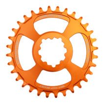 Burgtec Thick-Thin Chainring GXP 3mm Offset Direct Mount 32T Iron Bro Orange