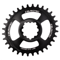 Burgtec Thick-Thin Oval Chainring GXP 3mm Offset Direct Mount 32T Black
