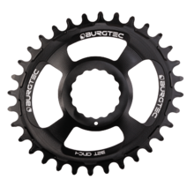 Burgtec Thick-Thin Oval Chainring Race Face Cinch Direct Mount 30T Black