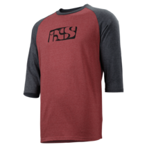 IXS 6.1 Brand T-shirt 3/4 Red/Black Medium
