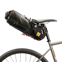 Restrap Bikepacking Saddle Bag + Dry Bag Small 8 litre Black/Orange