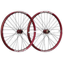 Spank Oozy Trail 345 Wheelset 27.5in 100x15/110x20 QR/142x12 Red