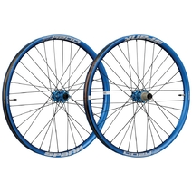 Spank Oozy Trail 395+ Wheelset 27.5in 100x15/110x20 QR/142x12 Blue