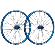 Spank Spike Race 28 Wheelset 26in Front:110x20mm Rear:150x12mm Blue
