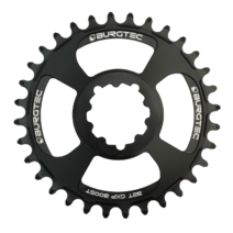 Burgtec Thick-Thin Chainring GXP 3mm Offset Direct Mount 28T Black